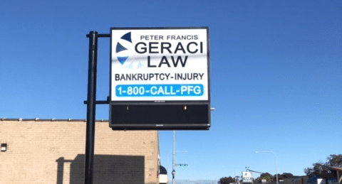Geraci Law adds New Monument Sign in Evergreen Park, Illinois