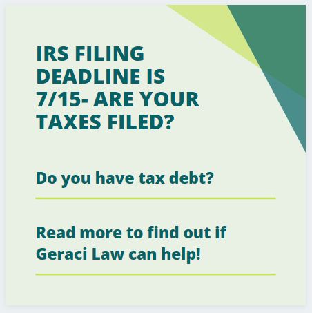 2019 IRS Tax Deadline is 7/15!