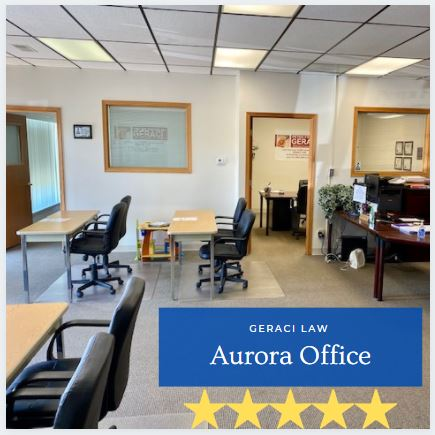 Geraci Law Aurora Bankruptcy Attorney Office inside the waiting room.