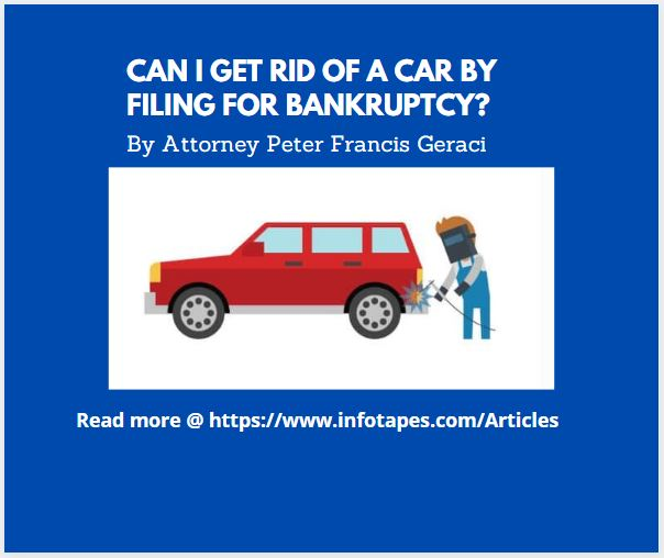 Can I Get Rid of a Vehicle By Filing Bankruptcy?