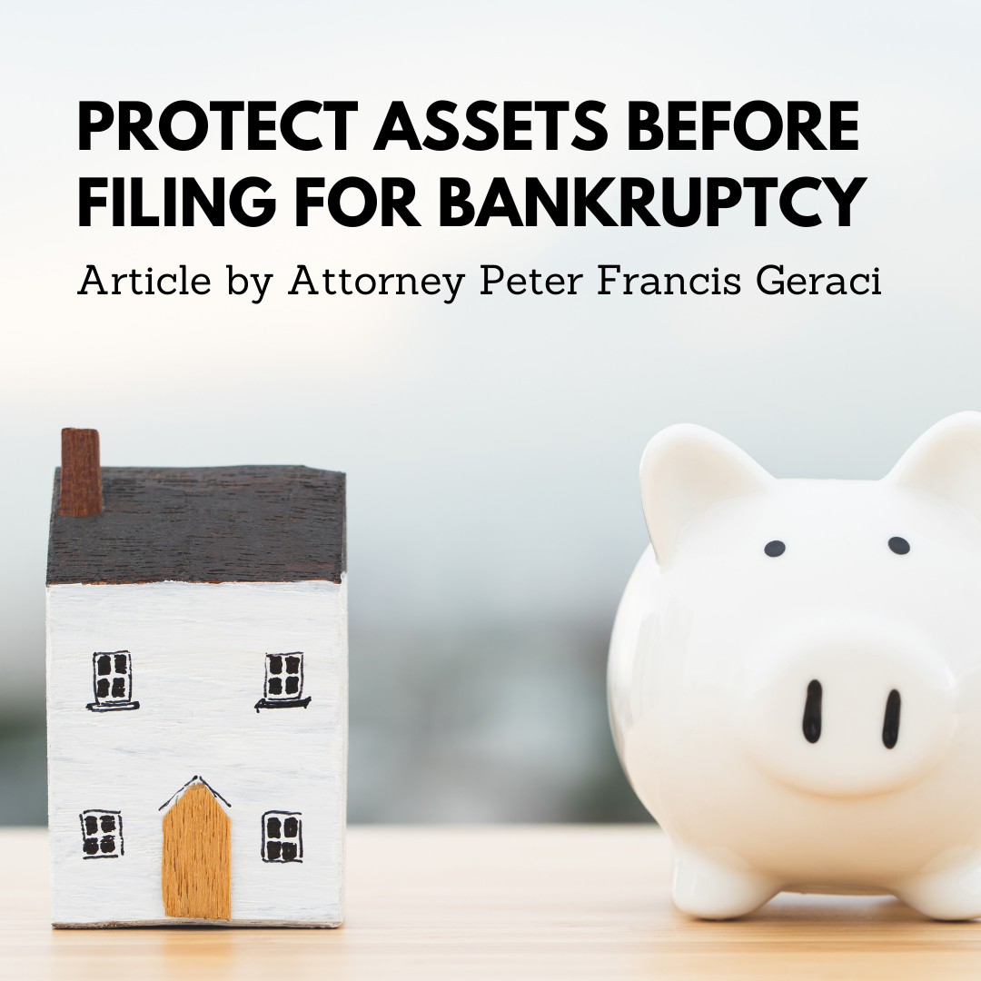 Protect Assets before Filing forBankruptcy