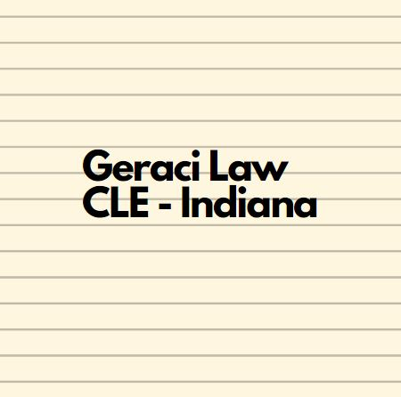 Geraci Law Attends CLE in French Lick,Indiana