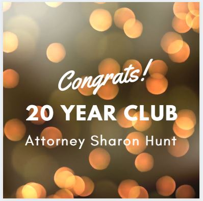 Attorney Sharon Hunt Celebrates 20 years with GeraciLaw!